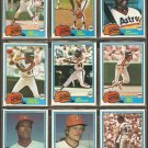 1981 Topps Houston Astros Team Lot Joe Morgan Jose Cruz Cesar Cedeno Joe Niekro JR Richard