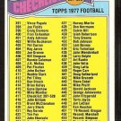 1977 Topps Football Card Checklist # 417 Cards 397-528 ex unmarked