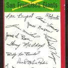 San Francisco Giants Red Team Checklist 1974 Topps Baseball Card vg unmarked