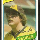 San Diego Padres Mark Lee 1980 Topps Baseball Card # 557 nr mt