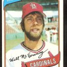 St Louis Cardinals Will McEnaney 1980 Topps Baseball Card # 563 nr mt