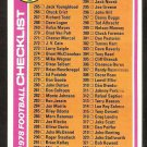 1978 Topps Football Card Checklist # 388 cards 265-396 unmarked ex