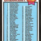 1979 Topps Football Card Checklist # 114 cards 1-132 unmarked ex mt