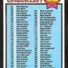 1979 Topps Football Card Checklist # 232 cards 133-264 unmarked ex mt