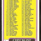 1980 Topps Football Card Checklist # 102 cards 1-132 unmarked ex