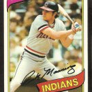 Cleveland Indians Rick Manning 1980 Topps Baseball Card # 564 nr mt
