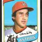 Houston Astros Joe Sambito 1980 Topps Baseball Card # 571 nr mt