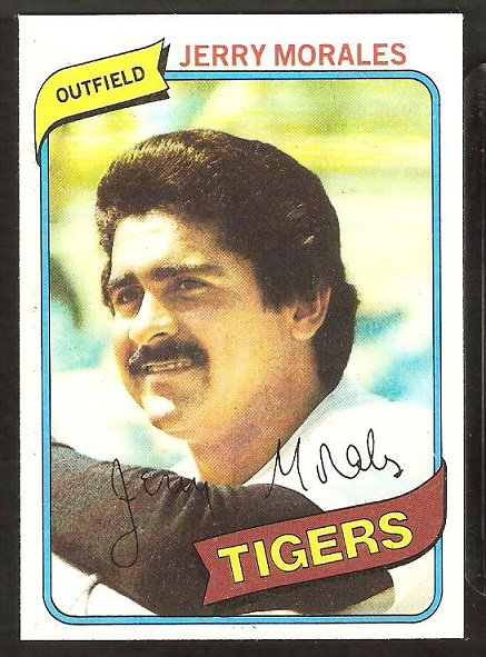 Detroit Tigers Jerry Morales 1980 Topps Baseball Card # 572 nr mt