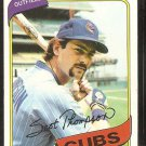Chicago Cubs Scot Thompson 1980 Topps Baseball Card # 574 nr mt