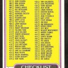 1980 Topps football Card Checklist # 509 Cards 397-528 ex unmarked