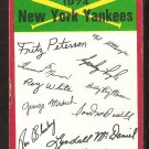 New York Yankees Red Team Checklist 1974 Topps Baseball Card vg unmarked