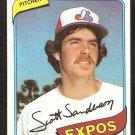 Montreal Expos Scott Sanderson 1980 Topps Baseball Card # 578 vg/ex