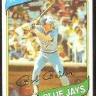 Toronto Blue Jays Bob Bailor 1980 Topps Baseball Card # 581 nr mt
