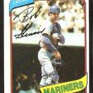 Seattle Mariners Bob Stinson 1980 Topps Baseball Card # 583 nr mt