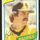 San Diego Padres Kurt Bevaqua 1980 Topps Baseball Card # 584 nr mt