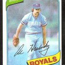 Kansas City Royals Al Hrabosky 1980 Topps Baseball Card # 585 nr mt
