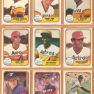 1981 Fleer Houston Astros Team Lot Joe Morgan Cesar Cedeno Jose Cruz Joe Niekro Terry Puhl Art Howe