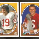 SAN Francisco 49ers Joe Montana 1991 Upper Deck Football Heroes # 2 & 3 Forty Niners
