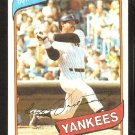 New York Yankees Reggie Jackson 1980 Topps Baseball Card # 600 vg/ex