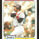 Boston Red Sox Jim Rice 1985 Drakes Big Hitters Baseball Card # 25 vg/ex