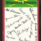 Milwaukee Brewers Red Team Checklist 1974 Topps Baseball Card vg unmarked