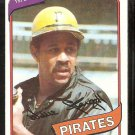 Pittsburgh Pirates Willie Stargell 1980 Topps Baseball Card # 610 ex/em