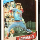 St Louis Cardinals Buddy Schultz 1980 Topps Baseball Card #