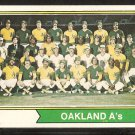 Oakland Athletics Team Card 1974 Topps Baseball Card # 246 vg/ex