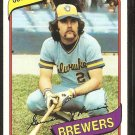 Milwaukee Brewers Gorman Thomas 1980 Topps Baseball Card # 623 nr mt