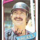 California Angels Bob Grich 1980 Topps Baseball Card # 621 nr mt