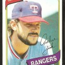 Texas Rangers Richie Zisk 1980 Topps Baseball Card # 620 ex/nm