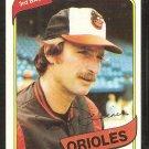 Baltimore Orioles Doug DeCinces 1980 Topps Baseball Card # 615 nr mt