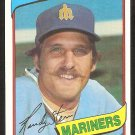 Seattle Mariners Randy Stein 1980 Topps Baseball Card # 613 nr mt