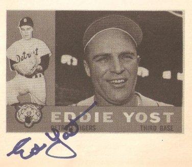 Detroit Tigers Eddie Yost Autographed 1988 Card Show Program Photo