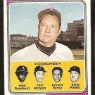 1974 Topps Baseball Card # 276 California Angels Bobby Winkles & Coaches vg/ex