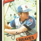 Atlanta Braves Barry Bonnell 1980 Topps # 632 Baseball Card