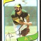 1980 Topps Baseball Card # 629 Oakland A's Athletics Jim Todd nr mt