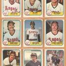 1981 Fleer California Angels Team Lot 23 diff Rod Carew Bobby Grich Don Baylor Carney Lansford