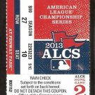 2013 ALCS Ticket Game 2 Boston Red Sox Detroit Tigers David Ortiz Grand Slam Miguel Cabrera HR