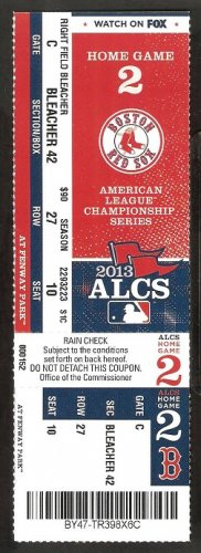 2013 ALCS Ticket Game 2 Boston Red Sox Detroit Tigers David Ortiz Grand Slam Miguel Cabrera HR