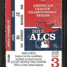2013 ALCS Ticket Game 6 Boston Red Sox Detroit Tigers Victorino Grand Slam Gives Red Sox the Pennant