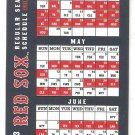 2013 Boston Red Sox Double Sided Pocket Schedule Worst To 1st Season