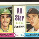 1974 Topps # 335 All Star Shortstops Oakland A's Bert Campaneris San Francisco Giants Chris Speier