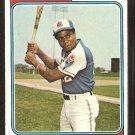 1974 Topps Baseball Card # 320 Atlanta Braves Dusty Baker vg