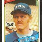 Chicago White Sox Milt May 1980 Topps Baseball Card # 647 nr mt