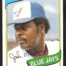 Toronto Blue Jays John Mayberry 1980 Topps Baseball Card # 643 ex mt