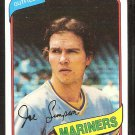 Seattle Mariners Joe Simpson 1980 Topps Baseball Card # 637 nr mt