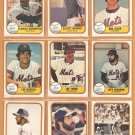1981 Fleer New York Mets Team Lot 23 Joe Torre Lee Mazzilli Jeff Reardon RC Craig Swan Neil Allen