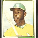 Oakland Athletics Bill North 1974 Topps Baseball Card # 345 vg