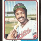 Minnesota Twins Larry Hisle 1974 Topps Baseball Card # 366 g/vg